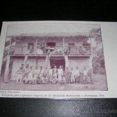 Postales: GUINEA ESPAÑOLA - VIVIENDO PARA CAPACES NEGROS, EN LA HACIENDA MONTSERRAT - FERNANDO POO, . Lote 10144224