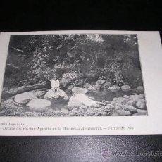Postales: GUINEA ESPAÑOLA - DETALLE DEL RIO SAN AGUSTIN EN LA HACIENDA MONTSERRAT - FERNANDO POO. Lote 10144384
