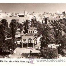 Postales: POSTAL TETUAN UNA VISITA DE LA PLAZA ESPAÑA . Lote 10410648
