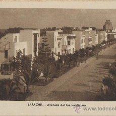 Postales: TARJETA POSTAL LARACHE AVENIDA DEL GENERALISIMO AFRICA ESPAÑOLA. Lote 11506235