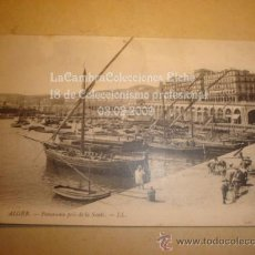 Postales: ANTIGUA TARJETA POSTAL DE P.P.S.XX DE ALGER, PUERTO, BARCO BARCOS, HACIA 1900.. Lote 11870137