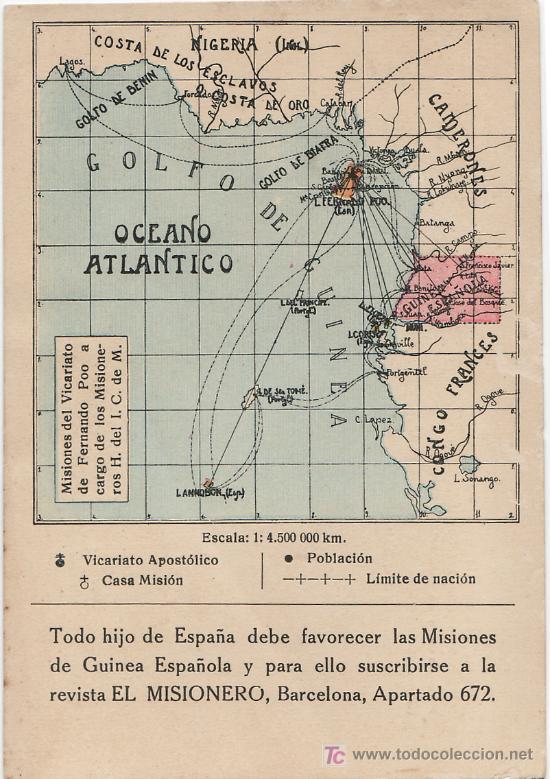 TARJETA POSTAL DE FERNANDO POO (GUINEA ESPAÑOLA) - ISLA DE FERNANDO POO (Postales - Postales Temáticas - Ex Colonias y Protectorado Español)
