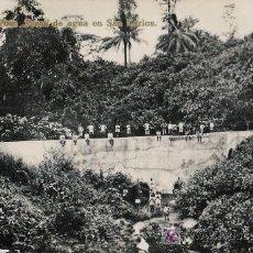 Postales: TARJETA POSTAL DE FERNANDO POO (GUINEA ESPAÑOLA) - PRESA DE AGUA EN SAN CARLOS. Lote 12876950