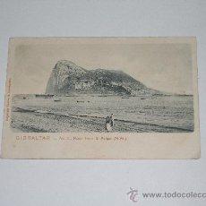 Postales: GIBRALTAR . Nº 4 . ROCK FROM S. FELIPE . ( N.W.) CIRCULADA EN 1909. Lote 12882917