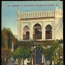 Cartes Postales: TARJETA POSTAL DE TANGER Nº83 LA VILLA HARRIS- VUE PRISE DES JARDINS,LEVY ET NEURDEIN RÉUNIS. Lote 13511790