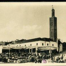 Postales: TRAJETA POSTAL DE TANGER Nº63- LE GRAND SOCCO VERS LA MOSQUÉS, REAL-PHOTO. Lote 13511826
