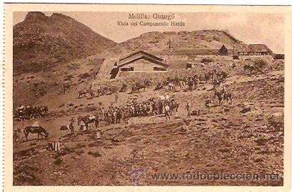 POSTAL MELILLA GURUGU VISTA DEL CAMPAMENTO HARDU (Postales - Postales Temáticas - Ex Colonias y Protectorado Español)