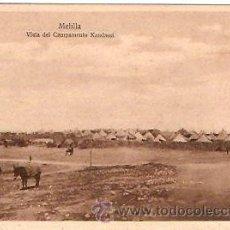 Postales: POSTAL MELILLA VISTA DEL CAMPAMENTO KANDASSI. Lote 13581817