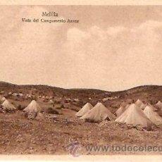 Postales: POSTAL MELILLA VISTA DEL CAMPAMENTO ANVER. Lote 13581861