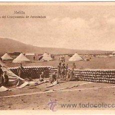 Postales: POSTAL MELILLA VISTA DEL CAMPAMENTO DE AEROSTACION. Lote 15685445