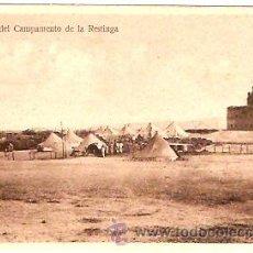 Postales: POSTAL MELILLA VISTA DEL CAMPAMENTO DE LA RESTINGA . Lote 13581923