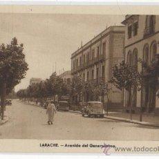 Postales: TARJETA POSTAL DE LARACHE AVENIDA DEL GENERALISIMO AFRICA ESPAÑOLA. Lote 13631889