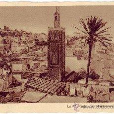 Postales: TÁNGER: LA MOSQUÉE DES AISSAOUAS ET LA CASBAH. EDITION LEBRUN FRÈRES. CIRCULADA (1947). Lote 27174730