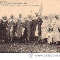 Postales: CAMPAÑA DEL RIF.- 1921. OCUPACION DEL ZALO. LOS JEFES DE QUEBDANA, EN DIRECCIÓN A NUESTRAS TROPAS . Lote 15302102