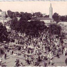 Postales: TÁNGER (MARRUECOS): LA PLAZA DEL ZOCO GRANDE. POSTAL FOTOGRÁFICA. EDICIÓN CAP. NO CIRCULADA(AÑOS 50). Lote 27174741