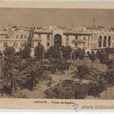 Postales: TARJETA POSTAL DE LARACHE PLAZA DE ESPAÑA AFRICA ESPAÑOLA. Lote 16464224