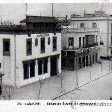 Postales: POSTAL LARACHE BANCO DE ESTADO DE MARRUECOS . Lote 17019944