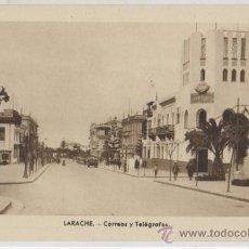 Postales: TARJETA POSTAL DE LARACHE CORREOS TELEGRAFOS AFRICA ESPAÑOLA GASOLINERA. Lote 21245056