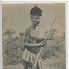 Postales: TARJETA POSTAL DE GUINEA ESPAÑOLA MUSICO PAMUE DEL RIO USENYE AFRICA ESPAÑOLA CONSTUMBRISTA MUSICA. Lote 31670091