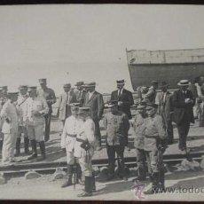 Postales: ANTIGUA FOTO POSTAL DE OFICIALES ESPAÑOLES EN DESEMBARCO - GUERRA DEL RIF - NO CIRCULADA.. Lote 19227183