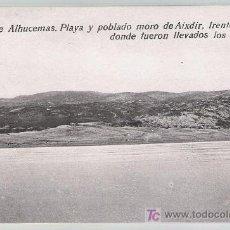 Postales: PEÑÓN DE ALHUCEMAS.- PLAYA Y POBLADO MORO DE AIXDIR.. Lote 20962751