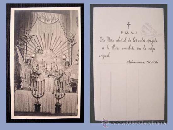 POSTAL - FOTOGRAFIA DIVINA INFANTITA / ALHUCEMAS 1956 (Postales - Postales Temáticas - Ex Colonias y Protectorado Español)