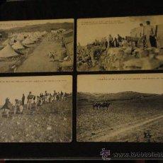 Cartes Postales: 4 POSTALES, CAMPAÑA DE 1911 A 1912 - MELILLA - ISHAFEN-ZELUAN, SIN CIRCULAR, EDICION RIF.. Lote 25566650