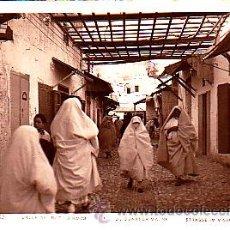 Postales: POSTAL FOTOGRAFICA TETUAN CALLE DEL BARRIO MORO. Lote 21941036