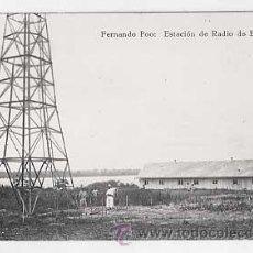 Postales: POSTAL FOTOGRAFICA: ( GUINEA ) FERNANDO POO, ESTACION DE RADIO DE BASILÉ. SIN CIRCULAR. Lote 25931261