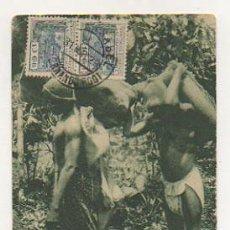 Postales: TIPOS CLASICOS DE BRACEROS. GUINEA CONTINENTAL. GUINEA ECUATORIAL. GUINEA ESPAÑOLA. . Lote 27232593