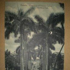 Postales: HABANA..- FUENTE EN EL PARQUE COLON.. Lote 27178344