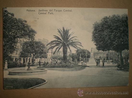 HABANA..- JARDINES DEL PARQUE CENTRAL.. (Postales - Postales Temáticas - Ex Colonias y Protectorado Español)