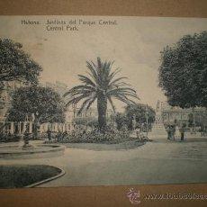 Postales: HABANA..- JARDINES DEL PARQUE CENTRAL... Lote 27178612