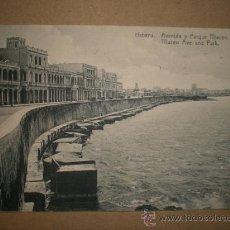 Postales: HABANA..- AVENIDA Y PARQUE MACEO.. Lote 47909865