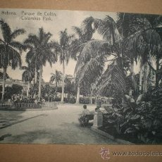 Postales: HABANA..- PARQUE DE COLÓN... Lote 27178787