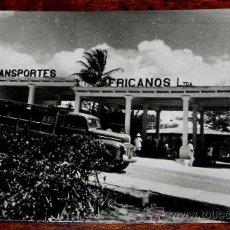 Postales: ANTIGUA FOTO POSTAL GUINEA ECUATORIAL ESPAÑOLA - BATA, ESTACION DE AUTOBUSES - N. 238 - FOTO CALIFOR. Lote 27669249