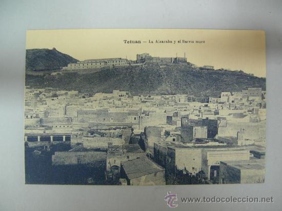 ANTIGUA POSTAL DE TETUAN - LA ALCAZABA Y EL BARRIO MORO - ED. M. ARRIBAS (Postales - Postales Temáticas - Ex Colonias y Protectorado Español)