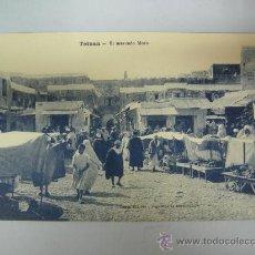 Postales: ANTIGUA POSTAL DE TETUAN - EL MERCADO MORO - ED. M. ARRIBAS. Lote 28344993