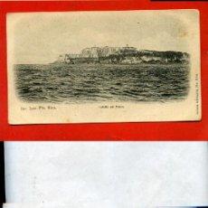Postales: POSTAL SAN JUAN (PUERTO RICO) CASTILLO DEL MORRO ANTERIOR A 1905 REVERSO SIN DIVIDIR. Lote 28362701