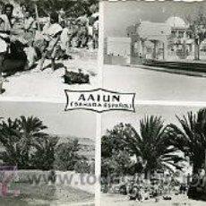 Postales: AAIUN (SAHARA ESPAÑOL).- POSTAL MOSAICO 4 VISTAS.- EDICIONES GUERRERO Nº 472.- FOTOGRÁFICA. Lote 28443304