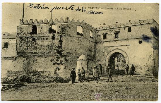 POSTAL ANTIGUA TETUÁN PUERTA DE LA REINA (Postales - Postales Temáticas - Ex Colonias y Protectorado Español)