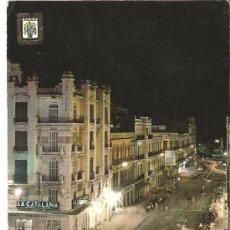Postales: POSTAL SAHARA ESPAÑOL MELILLA AVENIDA DEL GENERALÍSIMO.NOCTURNA.ESCUDO DE ORO,Nº 19.FRANQUEADA.. Lote 28651992