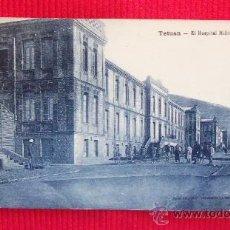 Postales: TETUAN - EL HOSPITAL MILITAR. Lote 28860917