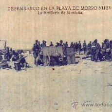 Postales: DESEMBARCO EN LA PLAYA DE MORRO NUEVO . Lote 29332445