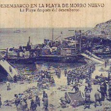 Postales: DESEMBARCO EN LA PLAYA DE MORRO NUEVO . Lote 29332503