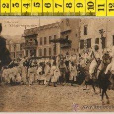 Postales: TARJETA POSTAL DE TETUAN PASCUA MORA DESFILE MILITAR AFRICA ESPAÑOLA. Lote 30870008