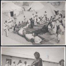 Postales: 6 FOTOGRAFÍAS CON ACTOS PARA PROCLAMAR LA 2ª REPUBLICA EN CABO JUBY-AÑO 1931. Lote 30892919