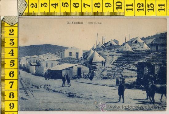 TARJETA POSTAL DE EL FONDAK TETUAN MARRUECOS ARABE ARABES MILITAR AFRICA ESPAÑOLA (Postales - Postales Temáticas - Ex Colonias y Protectorado Español)