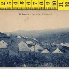 Postales: TARJETA POSTAL DE EL FONDAK VISTA CAMPAMENTO TETUAN MARRUECOS ARABE ARABES MILITAR AFRICA ESPAÑOLA. Lote 30909429