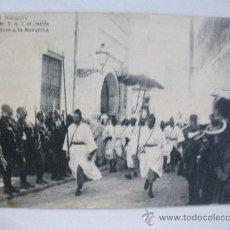 Postales: TETUAN : S.A.I. EL JALIFA DIRIGIENDOSE A LA MEZQUITA ... REGULARES, GUARDIA MORA, EL JALIFA , ETC .. Lote 31624546